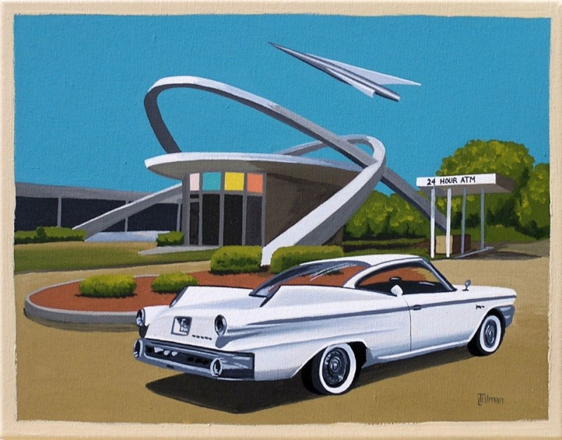 Mid Century Modern Retro Paintings by LTillmanArt 16047110