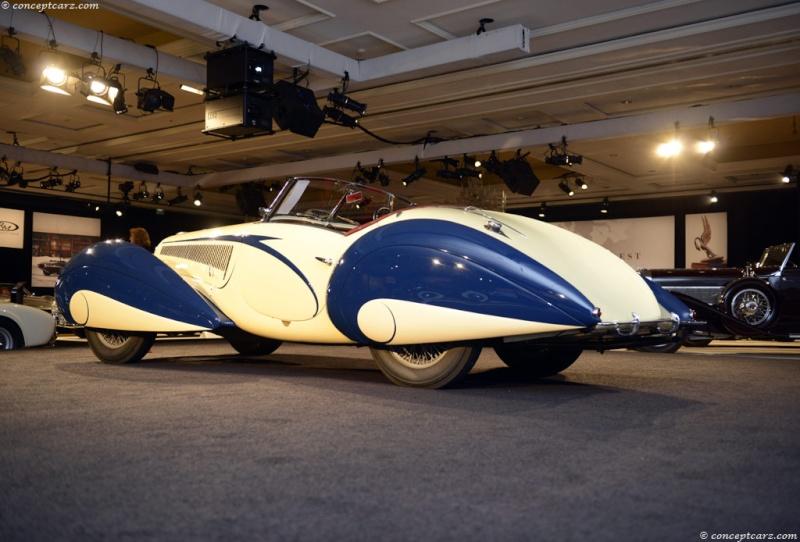 1937 Delahaye Figoni et Falaschi Torpedo Cabriolet 37-del23