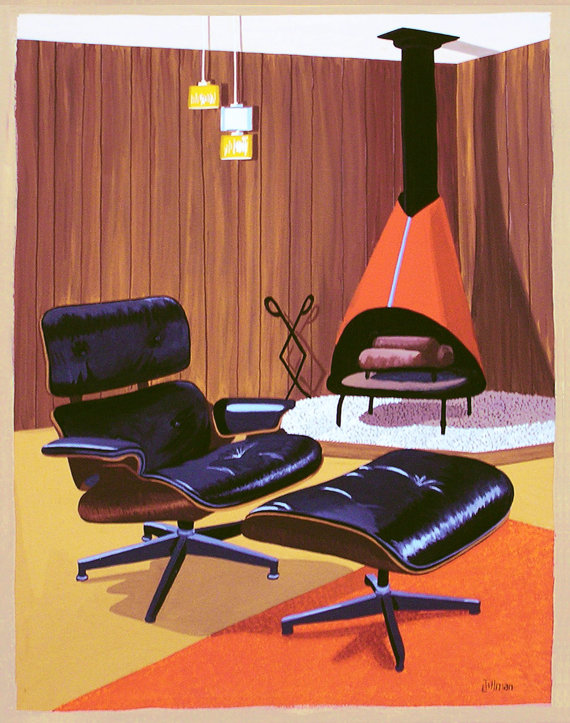 Mid Century Modern Retro Paintings by LTillmanArt Il_57010