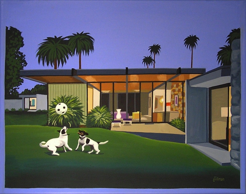 Mid Century Modern Retro Paintings by LTillmanArt Il_ful13