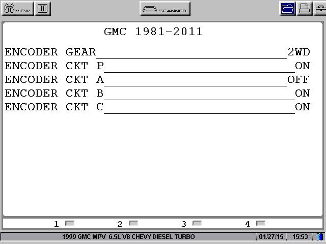 GM transfer case NVG 233\243-NPI Encodeur reference Datas User0110