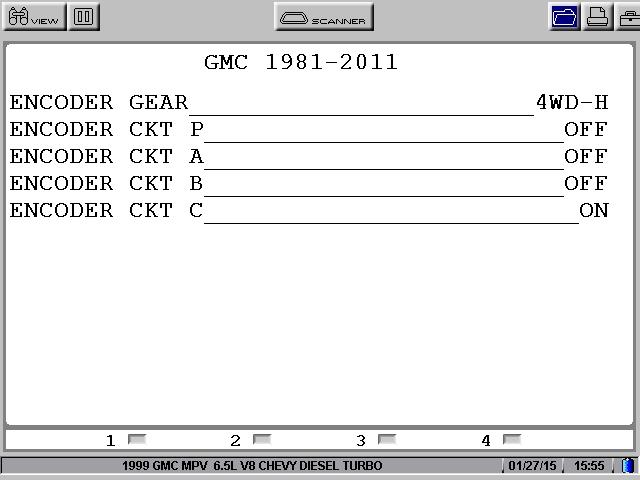 GM transfer case NVG 233\243-NPI Encodeur reference Datas User0112