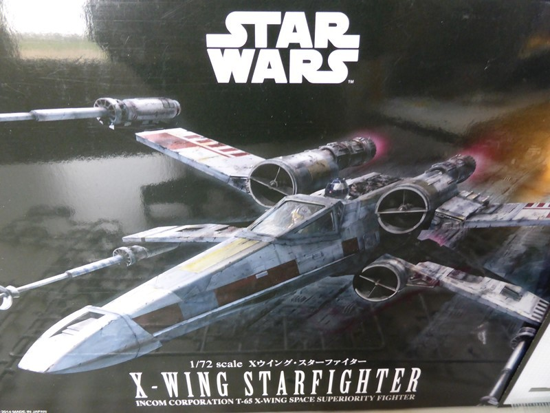 X-WING T-65 BANDAI 1/72 Snap Kit 010