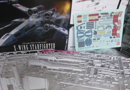 X-WING T-65 BANDAI 1/72 Snap Kit 110
