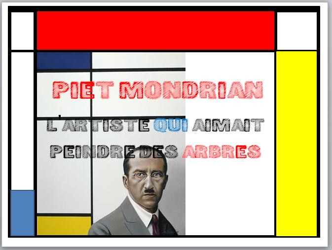 À LA MANIÈRE DE MONDRIAN  Piet_110