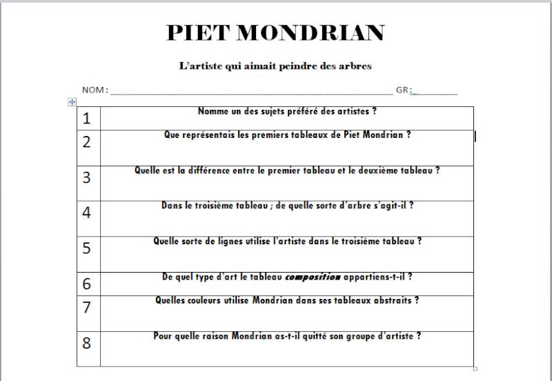 À LA MANIÈRE DE MONDRIAN  Piet_q10