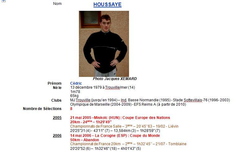 Cédric HOUSSAYE et la fiche technique de XEMARD J. 1_hous10