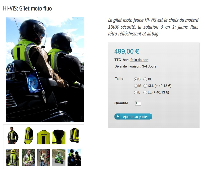 blouson air bag ou gilet Elit_t10