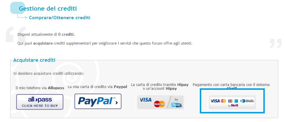 Come acquistare crediti con Skrill Aaa10