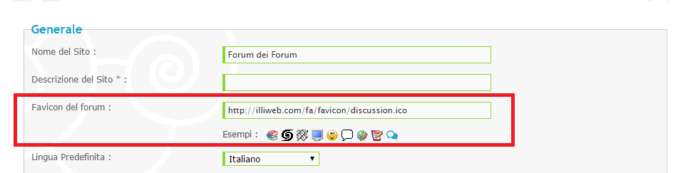 come fare la cornice del forum invisibile Favico10
