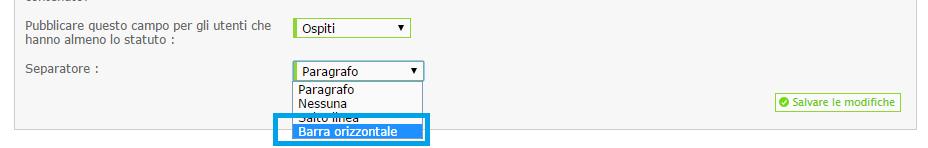 Modifiche della grafica del profilo/messaggi Separa10