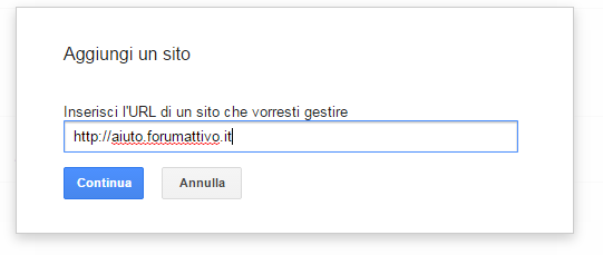 Strumenti google per webmaster su Forumattivo! Step210
