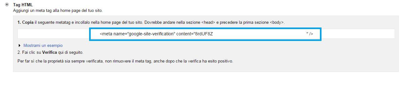 Strumenti google per webmaster su Forumattivo! Step410