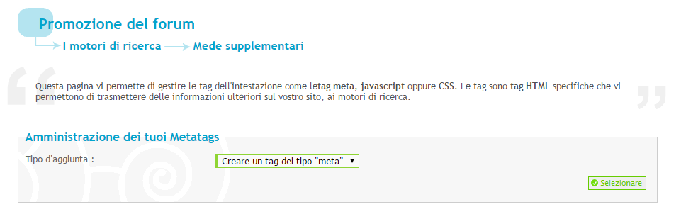 Hashtag seo su Forum dei Forum: Aiuto per Forumattivo Step610