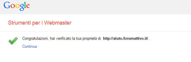 Strumenti google per webmaster su Forumattivo! Step910