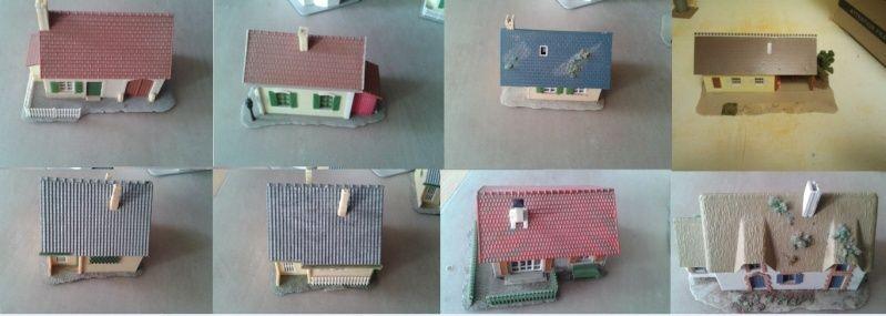 Lot de 8 Maisons HO 1/87 Captur10