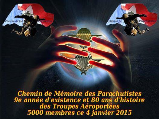 """Les sujets les plus actifs, les plus lus de notre forum """"Chemin de Mémoire des Parachutistes"""" au 15 févier 2015 5000_m10"""