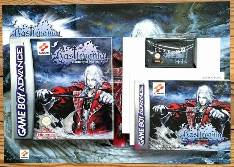NM CASTLEVANIA HARMONY OF DISSONANCE COMPLET GAMEBOY ADVANCE GBA PAL EUR CIB OVP S-l16020