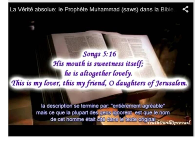La Vérité absolue: le Prophète Muhammad (saws) dans la Bible... Diapos11