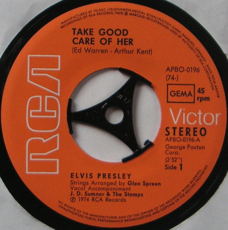 Take Good Care Of Her / I've Got A Thing  About You Baby 10a10