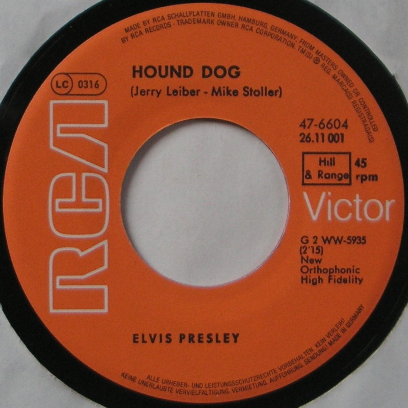 Hound Dog / Don't Be Cruel 11a10