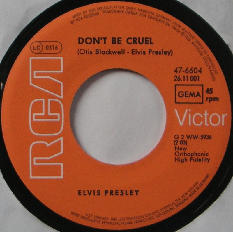 Hound Dog / Don't Be Cruel 11b10