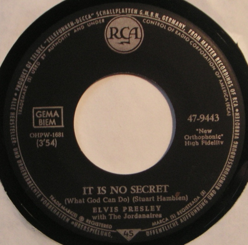 It Is No Secret / I Believe 12a_4_11
