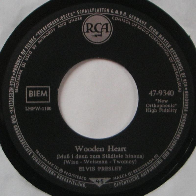Wooden Heart (Muß I Denn) / Tonight's All Right For Love (G'schichten Aus Dem Wiener Wald) 17a10