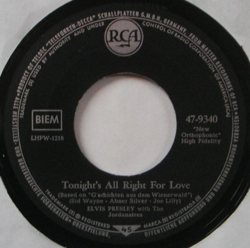 Wooden Heart (Muß I Denn) / Tonight's All Right For Love (G'schichten Aus Dem Wiener Wald) 17b10