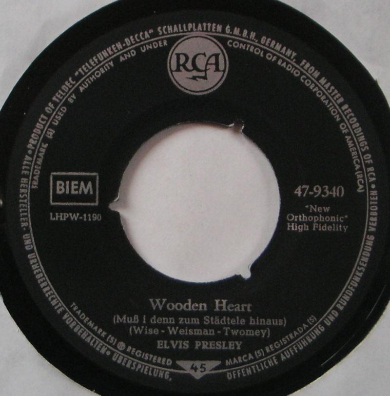 Wooden Heart (Muß I Denn) / Tonight's All Right For Love (G'schichten Aus Dem Wiener Wald) 18a10