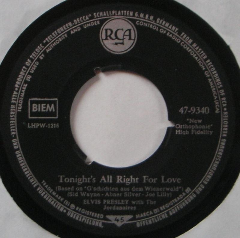 Wooden Heart (Muß I Denn) / Tonight's All Right For Love (G'schichten Aus Dem Wiener Wald) 18b10