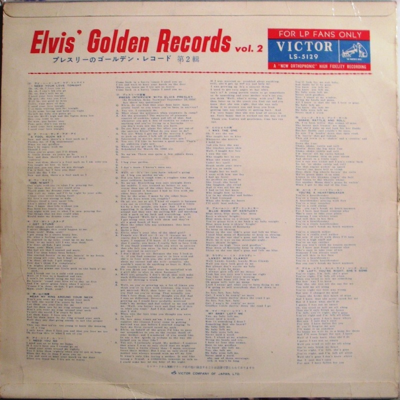 ELVIS' GOLDEN RECORDS VOL. 2 2a11