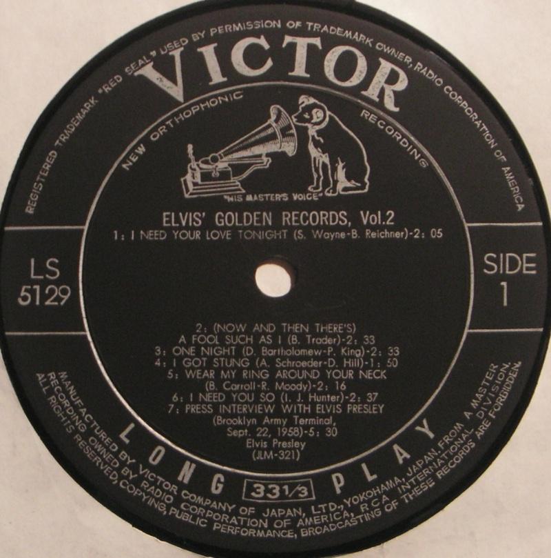 ELVIS' GOLDEN RECORDS VOL. 2 2c11