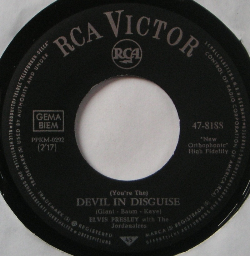 (You're The) Devil In Disguise / Please Don't Drag That String Around 3b12