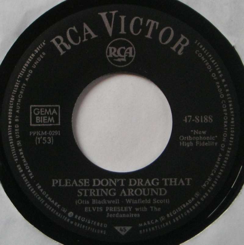 (You're The) Devil In Disguise / Please Don't Drag That String Around 3c12
