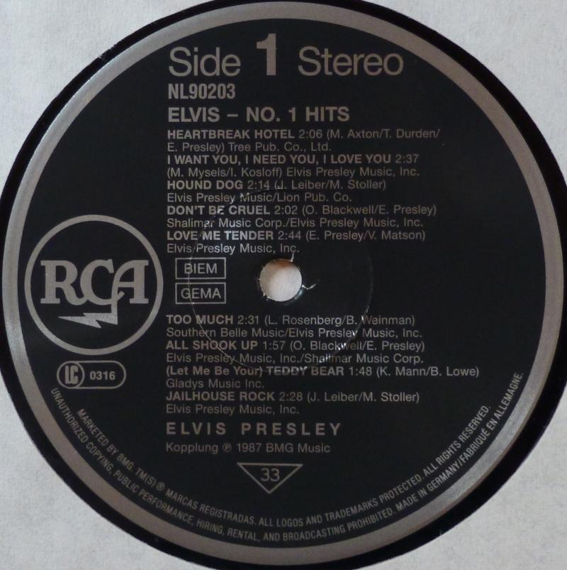 ELVIS NO.1 HITS P1000914