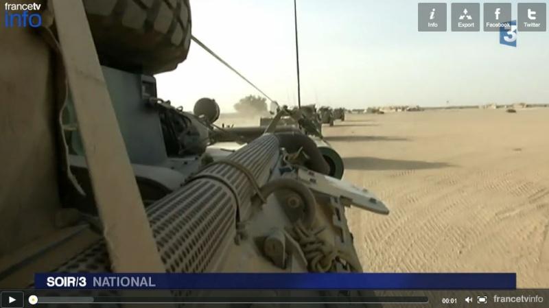 Six mois après le lancement par l'armée française de l'opération Barkhane, une équipe de France 3 a suivi les militaires sur le terrain au Mali. Mali_v10