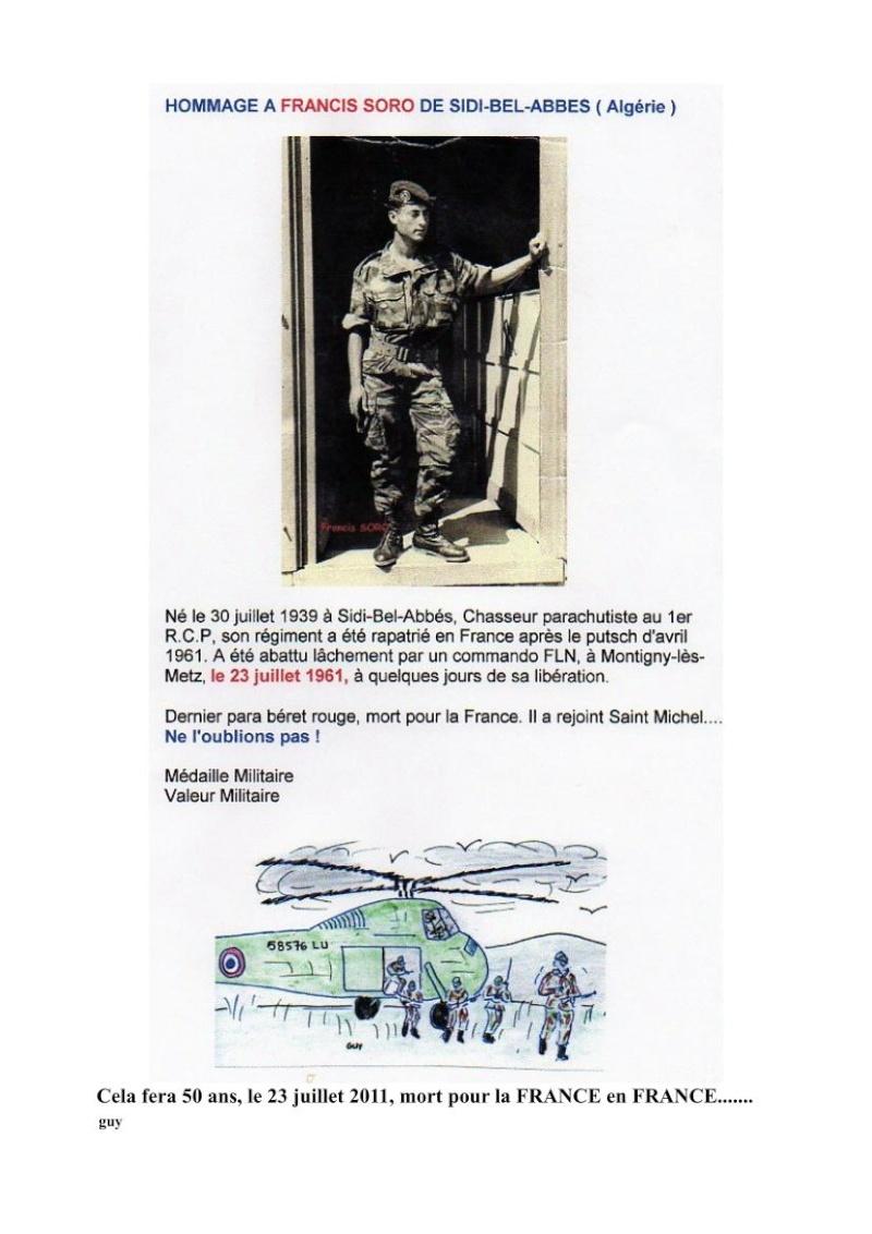 SORO Francis Chasseur Parachutiste 1er RCP assassiné par le FLN 23 juillet 1961 - Page 4 Soro__10