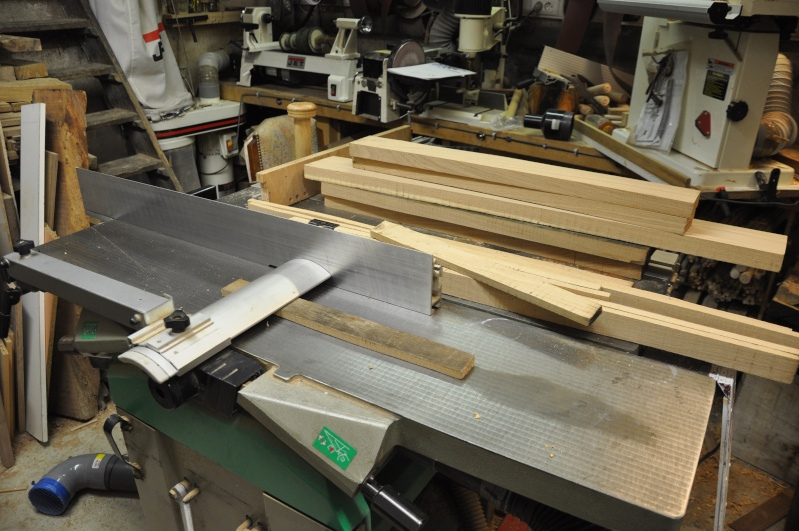 Fabrication d'un plateau  en bois pour table de bistrot 00110
