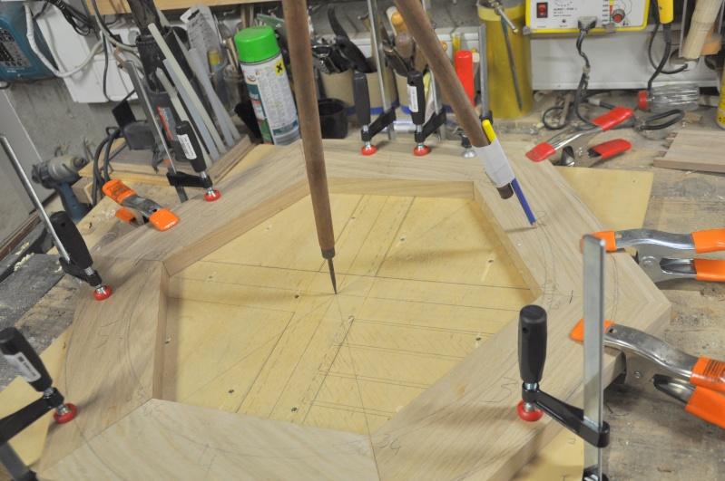 Fabrication d'un plateau  en bois pour table de bistrot 00111