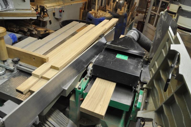 Fabrication d'un plateau  en bois pour table de bistrot 00210