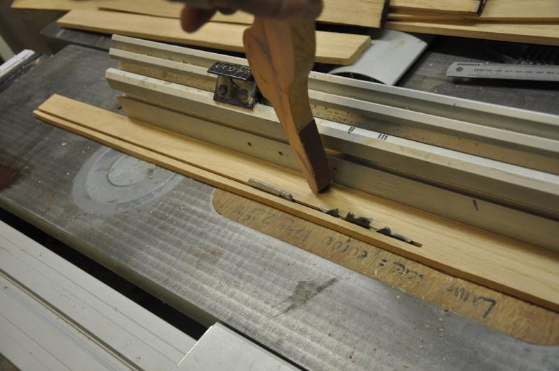 Fabrication d'un plateau  en bois pour table de bistrot 00311