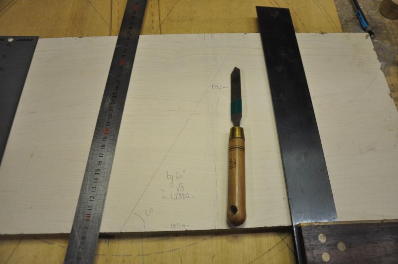 Fabrication d'un plateau  en bois pour table de bistrot 00611