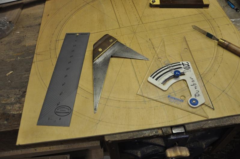 Fabrication d'un plateau  en bois pour table de bistrot 00810