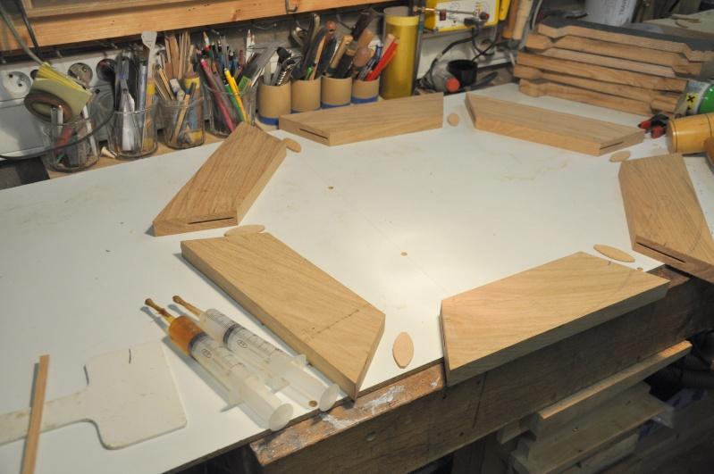 Fabrication d'un plateau  en bois pour table de bistrot 00811