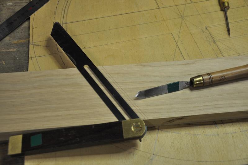 Fabrication d'un plateau  en bois pour table de bistrot 00911