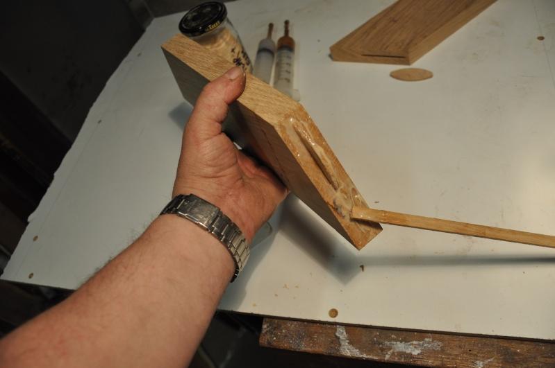Fabrication d'un plateau  en bois pour table de bistrot 01111