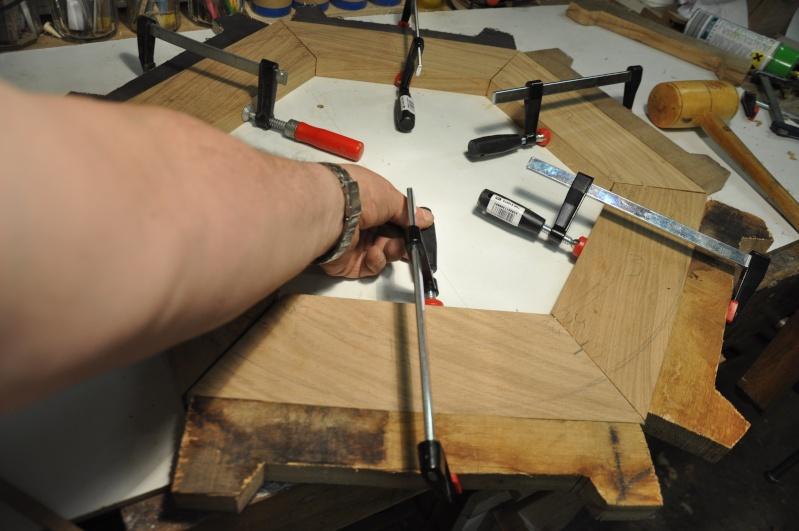 Fabrication d'un plateau  en bois pour table de bistrot 01210