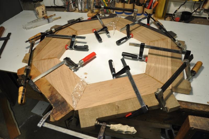 Fabrication d'un plateau  en bois pour table de bistrot 01510