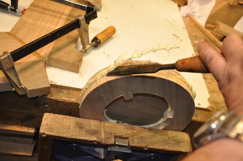 Fabrication d'un plateau  en bois pour table de bistrot 01611